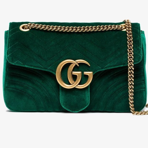 8fe8e7933c6 GG Marmont velvet shoulder bag